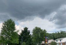 Photo of Brief funnel cloud, 6/10/20–cincinnati ohio