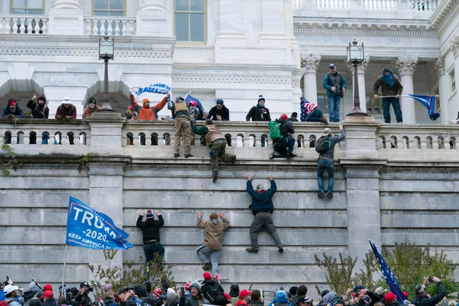 Protesters on Jan. 6, 2021, at the Capitol, in Washington, D.C.