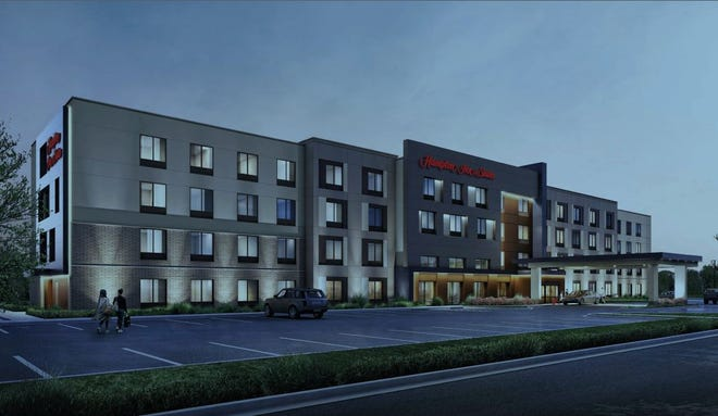 A 94-unit Hampton Inn hotel is in the planning stages in Green Township