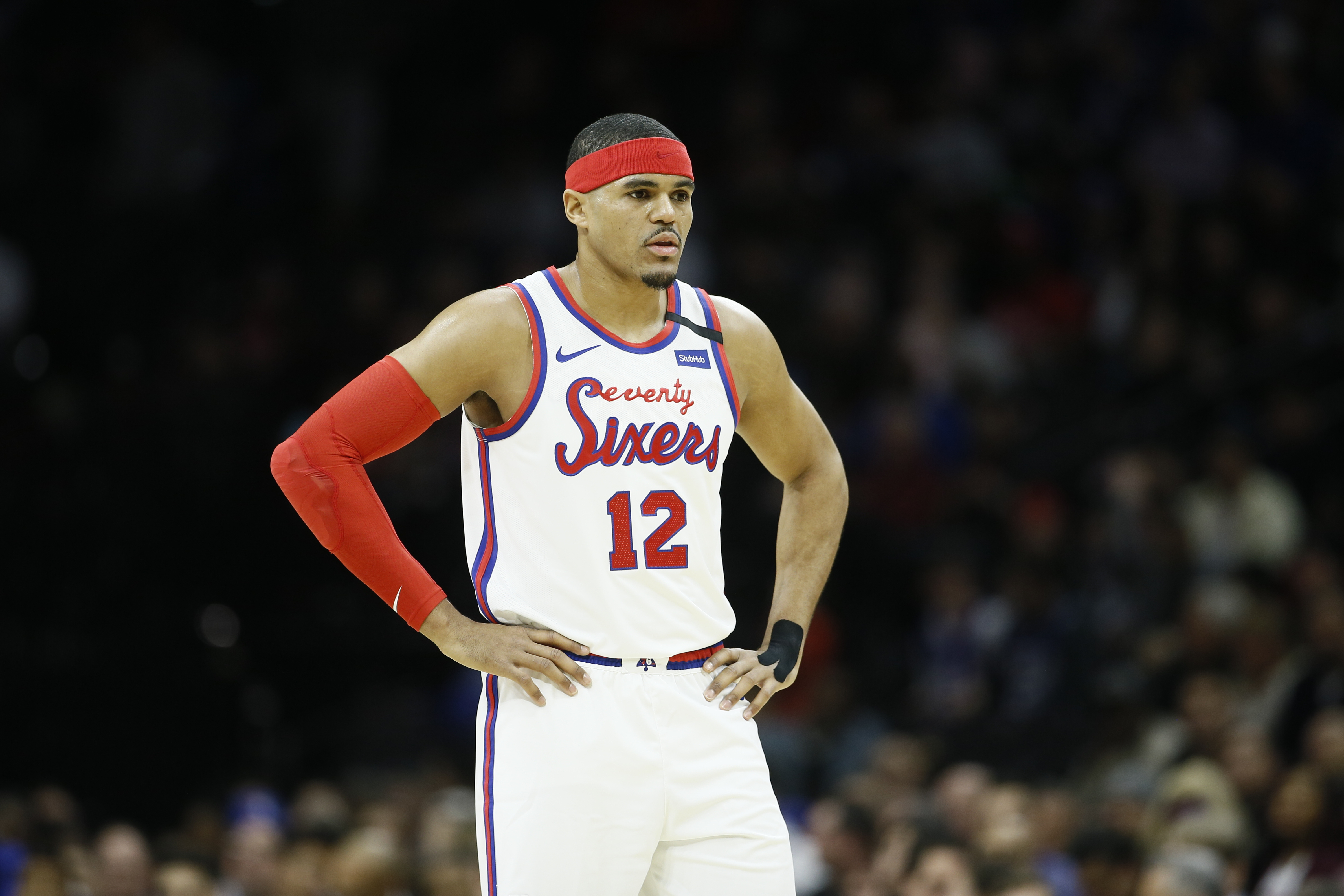 """Sixers forward Tobias Harris was eager to join Kobe Bryant's camp. """"I don't really care who was there, I'm just trying to go and learn and improve. That's how I approached it,"""" he said."""