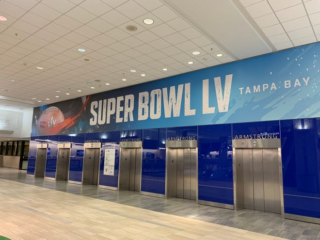 Tampa International Airport (TPA) readies for Super Bowl LV fans.