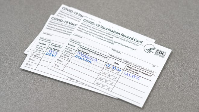 If you get a COVID-19 vaccination, you'll get one of these cards, too. For now, they schedule your next appointment. They also are a kind of proof of your vaccinations. Will you have to carry them around to gain access to places and do things? Maybe.