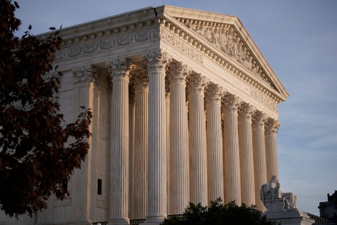 In this Nov. 5, 2020, file photo the Supreme Court is seen in Washington.