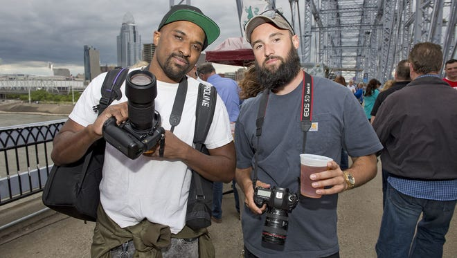 """Louis Rideout (left) is one of the artists showcased in the exhibition """"Future History Now 2021: Black Art Gallery,"""" opening Friday at Brick Pop Up Shops in Walnut Hills."""