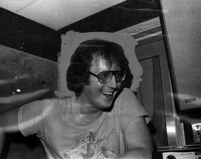 Pat Barry in 1976 was a high-energy DJ for Q-102.