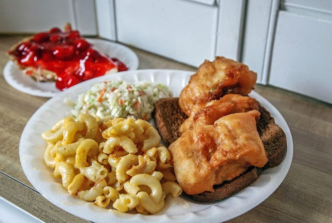 Food from Hartzell United Methodist Church fish fry.  Madison Schmidt/the enquirer Food from Hartzell United Methodist Church fish fry.