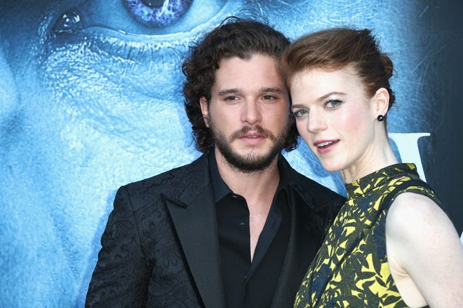 """According to reports, former """"Game of Thrones"""" stars Kit Harington and Rose Lesliehave welcomed their first child together, a baby boy."""
