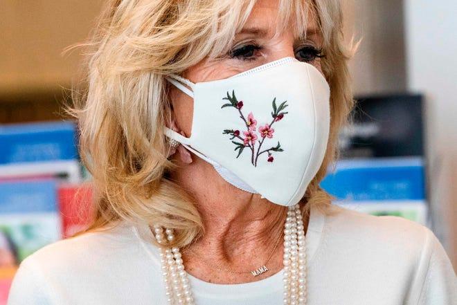 First lady Jill Biden tours the Whitman-Walker Health clinic on Jan. 22, 2021 in Washington, DC.