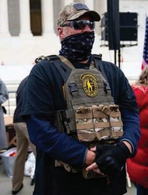 Kelly Meggs, according to the FBI, is the leader of the Oath Keepers in Florida, and was arrested and charged with participating in the Capitol rio.