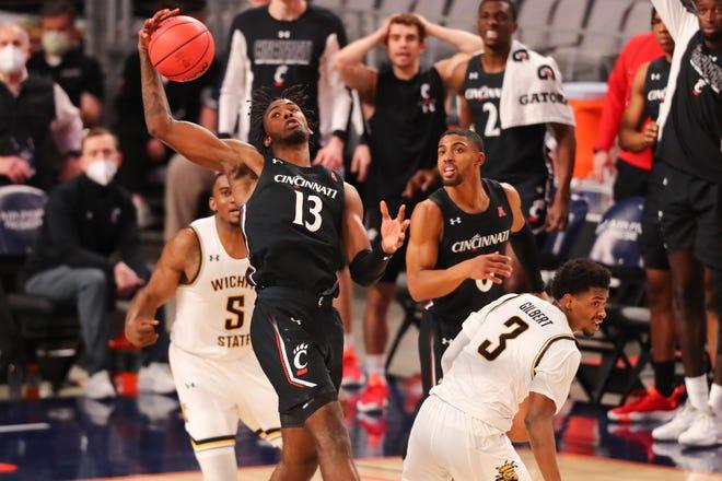 Freshman Tari Eason (13) scored nine key points and added 11 rebounds, three blocked shots and three steals.