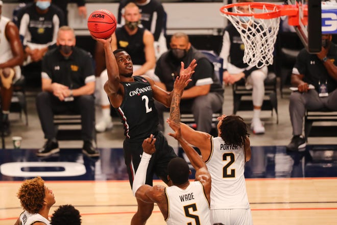 After scoring nine of the Bearcats' first 16 points, Keith Williams left the game with the score tied 29-29 with 2:52 remaining in the first half and never returned.