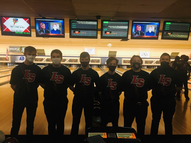 La Salle's undefeated bowling team (from left) is Nolan Blessing, Kyle Topke, Alex Toelke, Zach Torbeck, Gordon Stuard and Tommy Hambick.