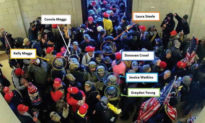 The FBI alleges this group of Oath Keepers were arrested on charges relating to the Capitol rioter.