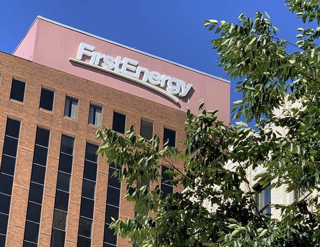 FirstEnergy Corp. headquarters is pictured July 29, 2020, at Cascade Plaza in downtown Akron.