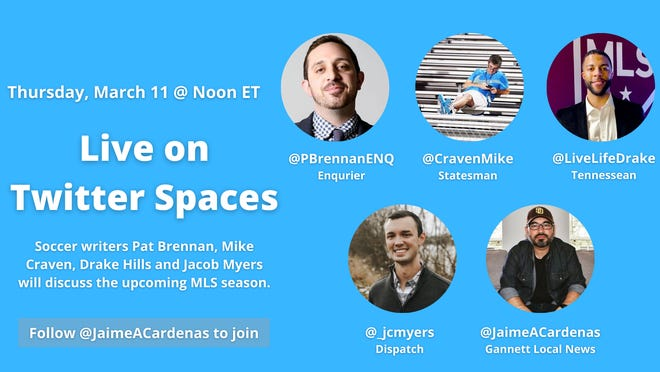 Join USA Today Network's Major League Soccer beat writers on Thursday, March 11 at noon for a live discussion on Twitter Spaces